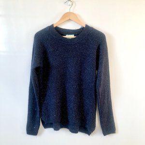 Seint Navy Sparkle Crew Knit Sweater NWT